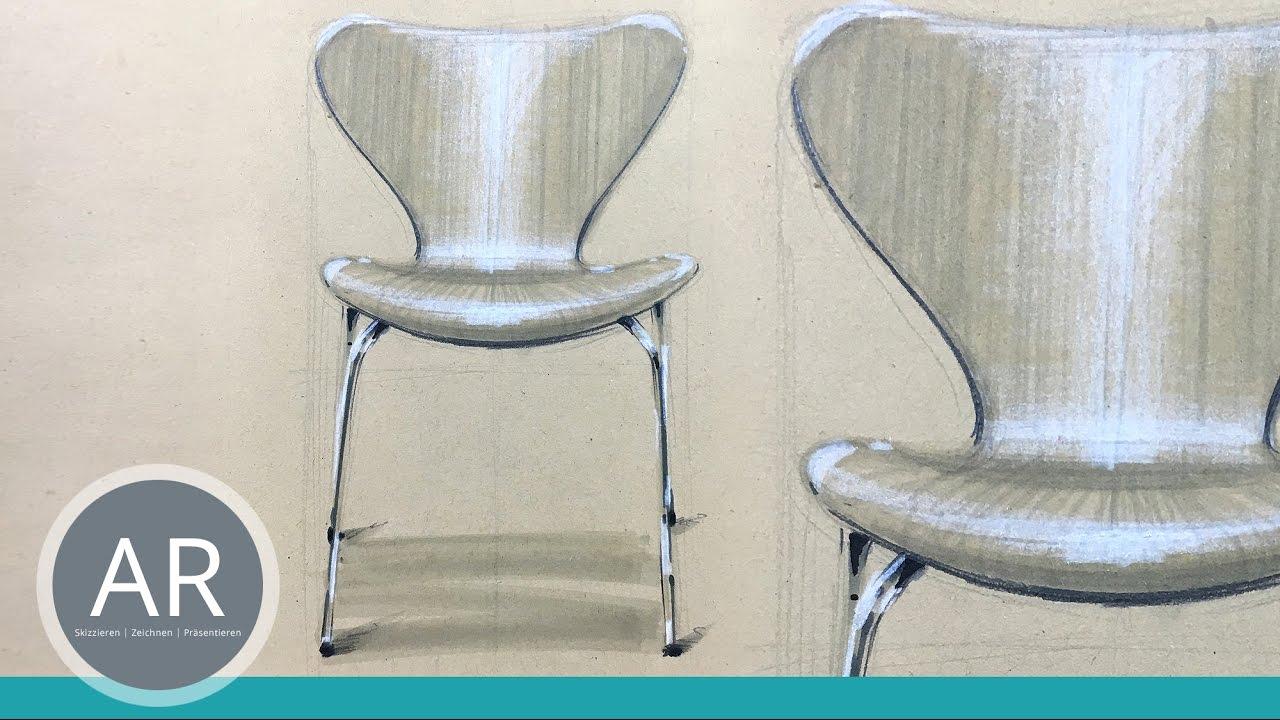 Interieur Design Skizzen Möbel Zeichnen Lernen