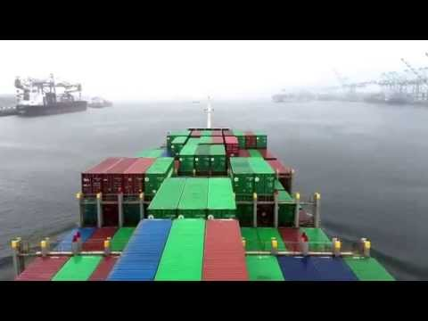 ship maneuvering at port M.v Uni Pacific arrival