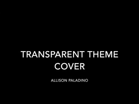"Amazon's ""Transparent"" Theme Cover"