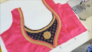 latest paan gala blouse design cutting and stitching