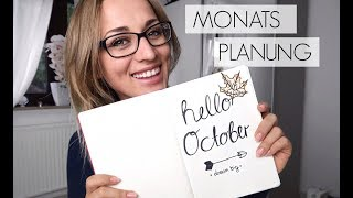 Monats Planung Oktober 2017 / Organisation is alles
