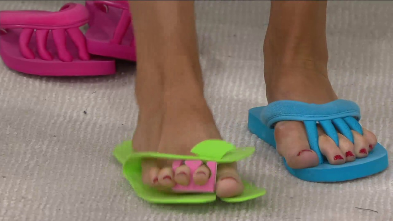 7765a457390 Pedi Couture On-the-Go Pedicure Sandal on QVC - YouTube