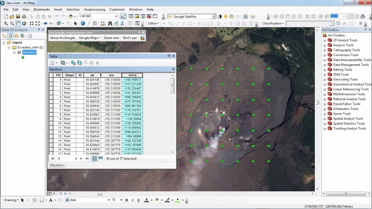How To Get Elevation From Google Earth Using ArcGis YouTube - Google earth elevation data
