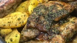 Очень вкусные свиные ребрышки с картофелем