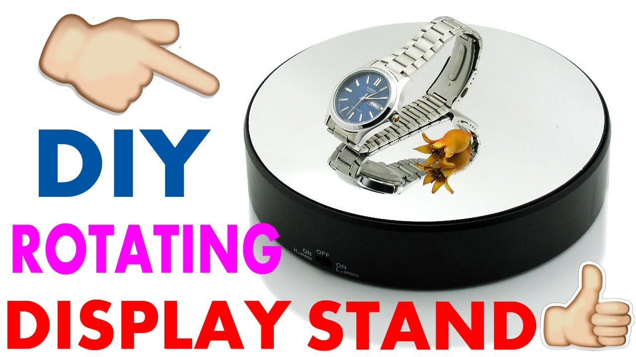 How To Make Rotating Display Stand Diy Youtube
