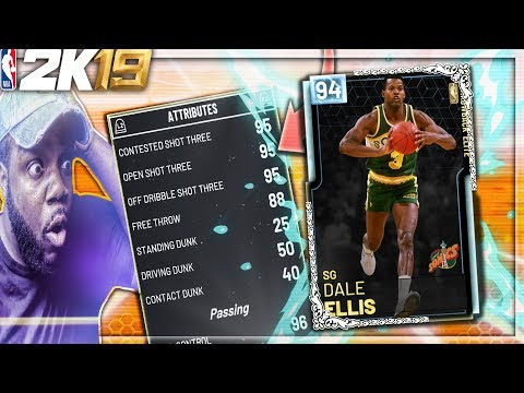NBA 2K19 MyTEAM DIAMOND DALE ELLIS IS CRAZY! DROPS 64 POINTS IN 3 QUARTERS! UNSTOPPABLE IN TAKEOVER!