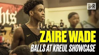 Zaire Wade Hoops at Kreul Showcase With Dwyane Wade and Gabrielle Union In The Crowd