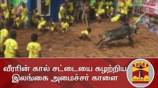 வீரரின் கால் சட்டையை கழற்றிய இலங்கை அமைச்சர் காளை | Jallikattu