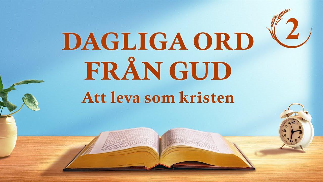 """Dagliga ord från Gud   """"Att återställa människans normala liv och ta henne till ett underbart slutmål""""   Utdrag 2"""