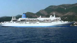 Mini footage - Passenger ship in the Kotor Bay (Prcanj, Montenegro)