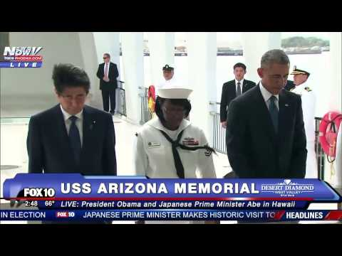 MAKING HISTORY: President Obama & Japan Prime Minister Abe Visit USS Arizona Memorial - Pearl Harbor