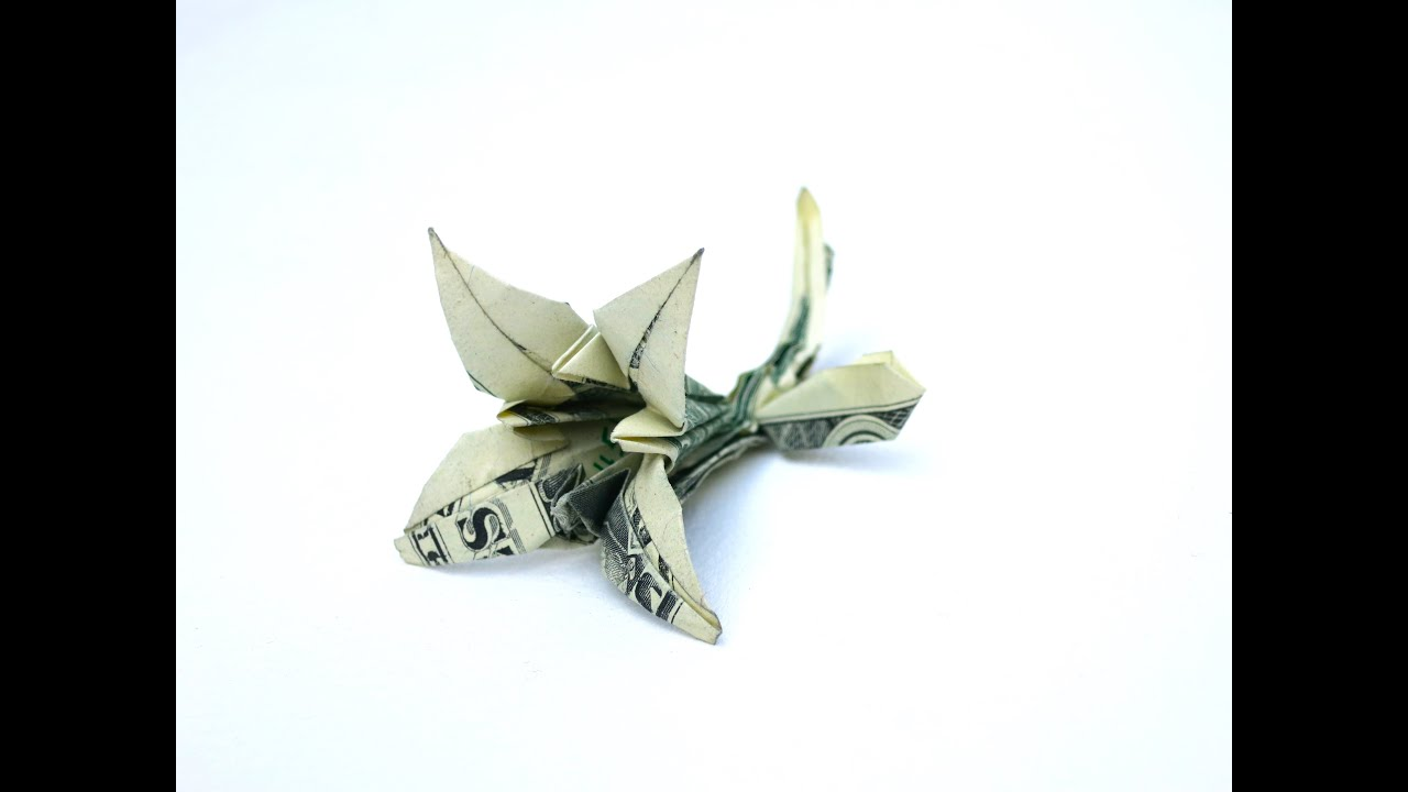 How to make a Lily from a 100 dollar bill - YouTube - photo#20