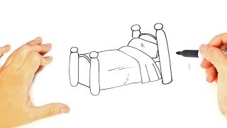 How to draw a Bed Step by Step | Bed Drawing Lesson