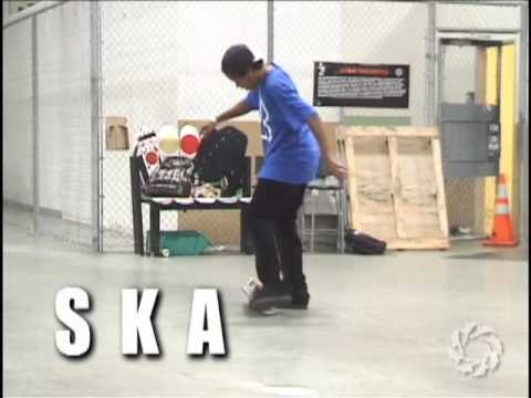 Felipe Gustavo shows us how to spell S.K.A.T.E.
