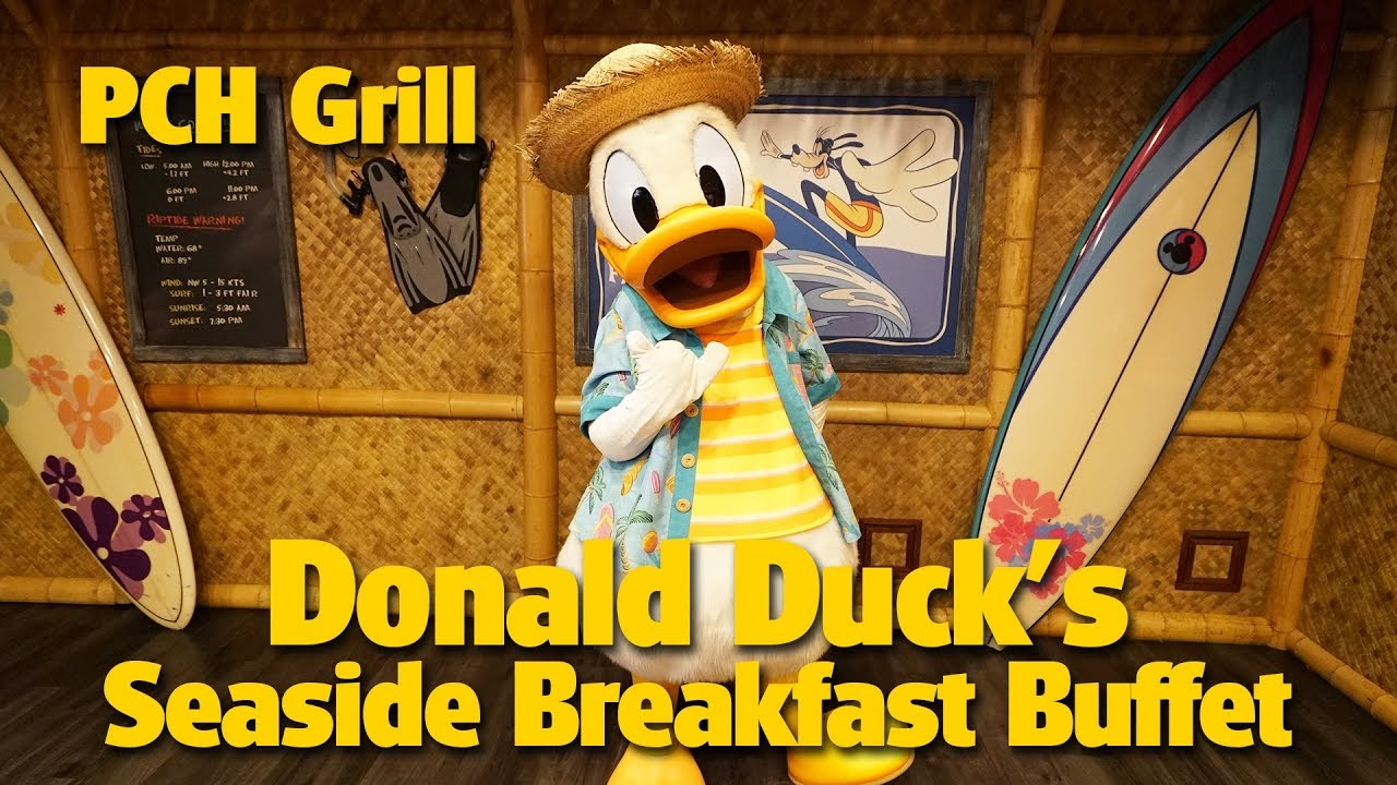 Donald Duck S Seaside Breakfast Buffet At Pch Grill Disney S Paradise Pier Hotel