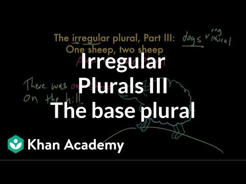 Irregular plural nouns |– base plurals | The parts of speech | Grammar | Khan Academy