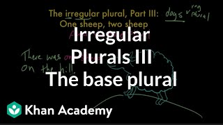 Irregular Plural Nouns, Part III | The Parts Of Speech | Grammar