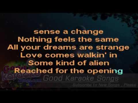 Love Walks In -  Van Halen ( Karaoke Lyrics )