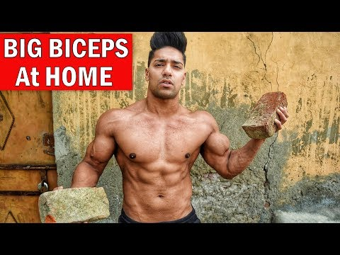 5 Min Home Biceps Workout (No Gym) Muscle Building | Rohit Khatri Fitness