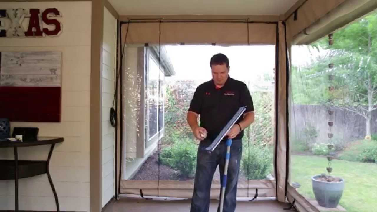 How To Clean Your Clear Vinyl Patio Curtains By Southern Patio Enclosures    YouTube