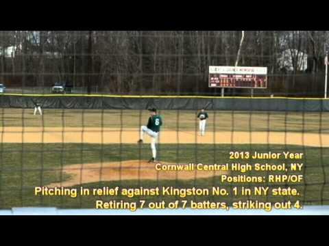 Matthew Smith Cornwall Central High School Baseball 2012 And 2013