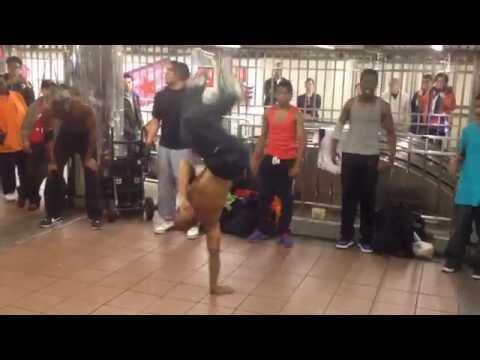 crazy street dancers acrobats