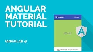 Angular 4 Material Tutorial