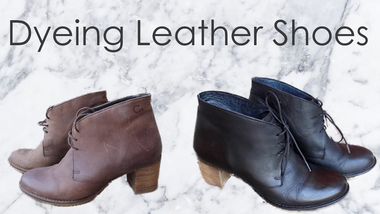 Dyeing Leather Shoes Sannari