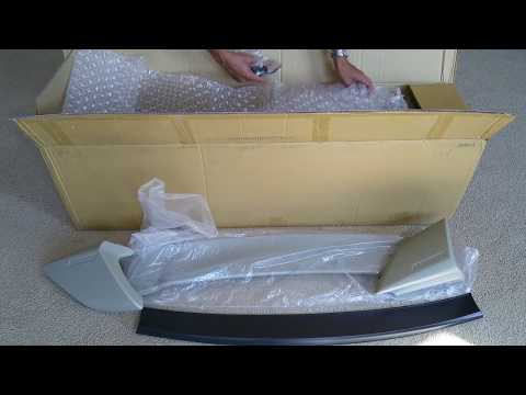 Unboxing JDM Mugen Style 8th Gen Honda Civic EX-L Si Type R Rear Trunk Wing Spoiler! Full HD 2017