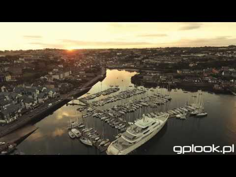 Kinsale Ireland Marina Drone Stock Full HD 2016