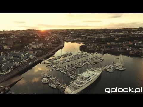 Kinsale Ireland Marina Drone Stock Full HD 2016