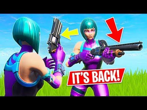 PUMP SHOTGUN IS BACK!! New Legendary Revolver Weapon! (Fortnite Battle Royale)