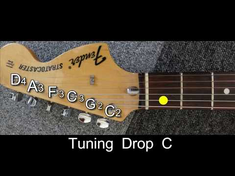 Guitar Tuning Drop C(C2 G2 C3 F3 A3 D4)