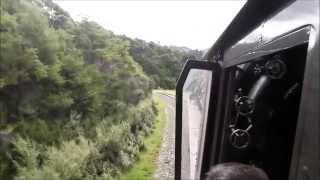 Ka942 cab ride through tunnels from Waikokopu to Gisborne on Mainline Steam NZ Tour Nov 2011