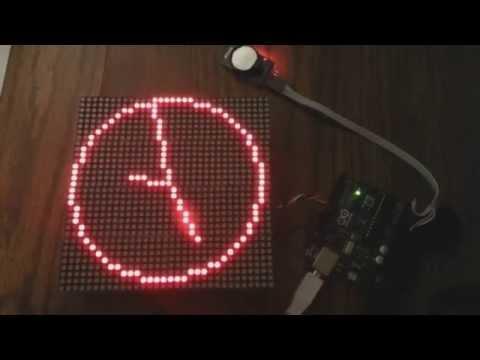 "Digital ""analog"" Clock"