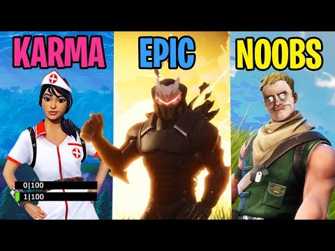 KARMA vs EPIC vs NOOBS! Fortnite Battle Royale Funny Moments