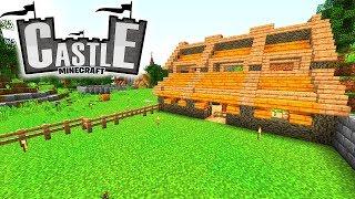 Pferdeställe! Timelapse! Marktplatz pflastern! - Minecraft CASTLE #10 - Ancient Warfare 2 Mod