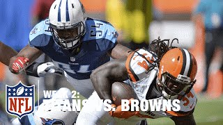 Isaiah Crowell Cuts Back and Breaks Tackles for 11-Yard TD | Titans vs. Browns | NFL