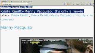 manny pacquiao krista ranillo it s only a movie what can u say