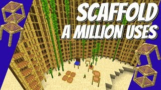 Scaffold In Minecraft: How to use Scaffold & Some Fun Building Ideas Minecraft 1.14+ (Avomance 2019)