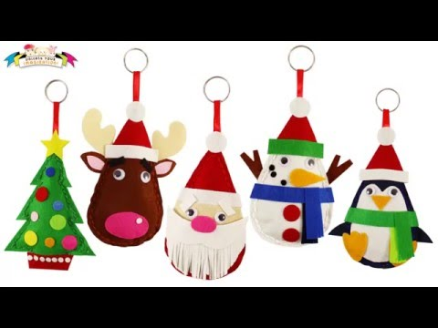 Craft work for kids santa felt christmas plushie for Easy christmas crafts to sew