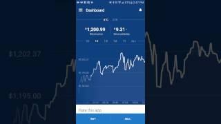 New App! Coinbase! How To Trade Bitcoin!