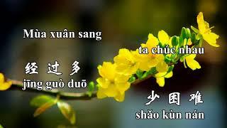 Chúc tết, nhạc xuân, gong xi gong xi, 恭喜恭喜, nhạc hoa, song ngữ Karaoke
