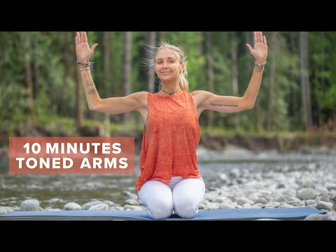 10 Min TONED Arms Workout | 10 Easy Arm Exercises For Quick Results (No Equipment)