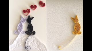 Quilling Love Cats, Make Quilled Cats Card