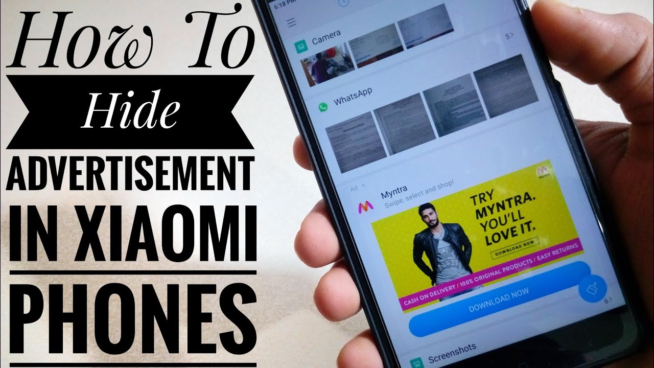 How To Remove Ads in any Mi Phones [ No Root ] 2018 Best Tricks For Redmi  Phones
