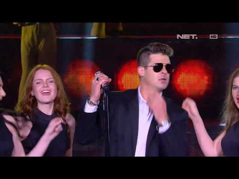 Robin Thicke - Blurred Lines - LIVE from NET 4.0 presents Indonesian Choice Awards 2017