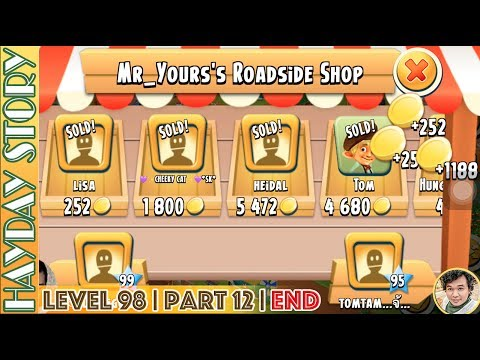 Earning More Than One Million Coins on Last Day Of Hay Day Level 98 | Part 12