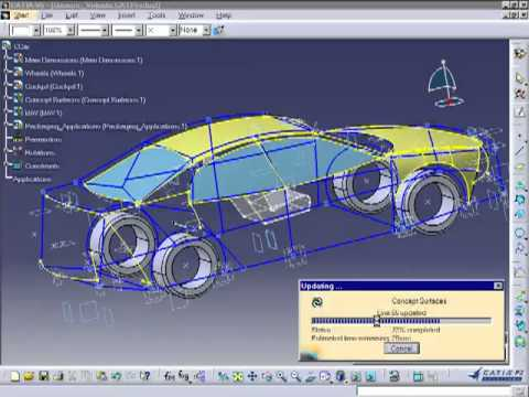 car design CATIA Projects - YouTube