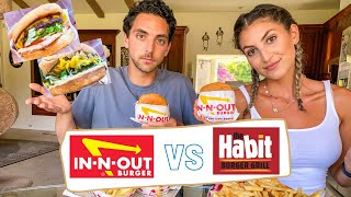 In N Out VS. The Habit Burger | OFFICIAL REVIEW + TASTE TEST | which burger is better?